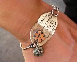 medical id bracelets for women brittany wende bw silver handmade san antonio tx