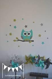 dessin chambre bébé garçon décoration chambre enfant bébé gris blanc argent hibou