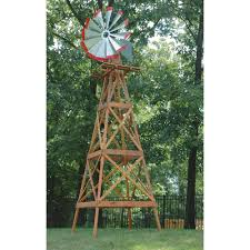 large ornamental wooden garden windmill 165in h model byw0312