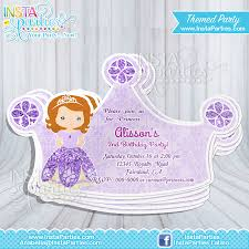 sofia party invitations princess the first princess cut out