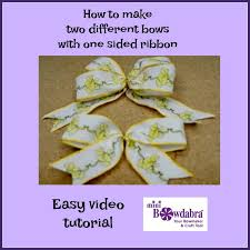sided ribbon how to make an easy bow with one sided printed ribbon