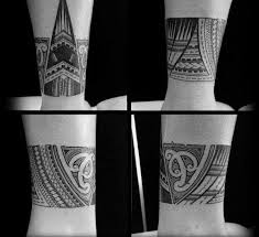 cool ankle polynesian tribal band designs