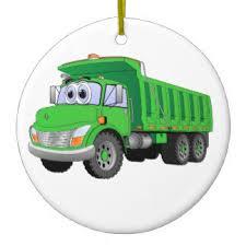 green dump truck ornaments keepsake ornaments zazzle