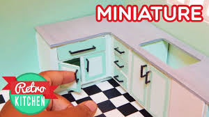 kitchen counters and cabinets retro miniature kitchen room 1