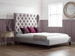 Big Headboard Beds Bedroom Soft Grey Bed With Large Grey Headboard Connected By Grey