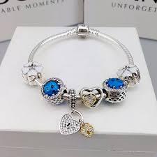 bracelet with charm images Pandora charm bracelet with charms blue 142 00 JPG