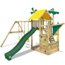 si e balancoire wickey smart sail aire de jeux cabane portique bois balançoire
