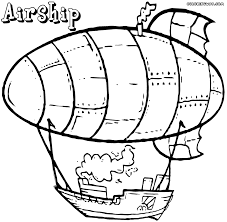 airship coloring pages coloring pages to download and print