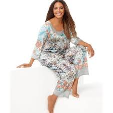 one world plus size pajamas lace jewels top and pajama pant