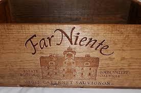 Napa Valley Home Decor Collectors Engraved Napa Valley Far Niente Wood Wine Crate Box