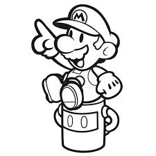 paper mario color splash official coloring book artwork