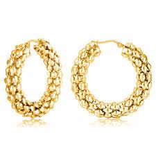 gold jhumka hoop earrings copper basket statement bulk hoop earring for women indian style