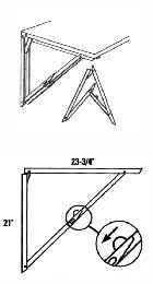 Drop Leaf Table Hinges Folding Shelf Bracket Sold Per Each By Selby Hardware Http