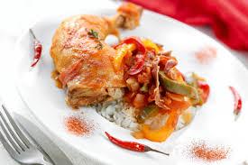 cuisine poulet basquaise poulet basquaise olives une recette de plat facile