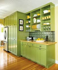 kitchen modern green kitchen cabinets with concrete white