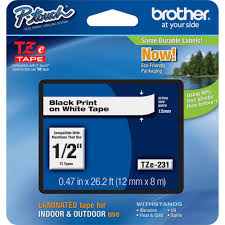 how to install brother p touch tape brother 12 mm black on white tape for p touch 8 m tze231 the home