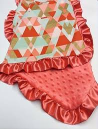 Coral And Mint Bedding Amazon Com Coral Gold And Mint Baby Blanket Modern Crib Bedding