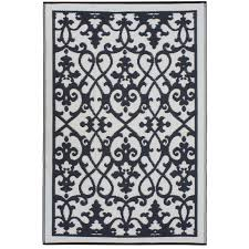 Black Outdoor Rugs by Venice
