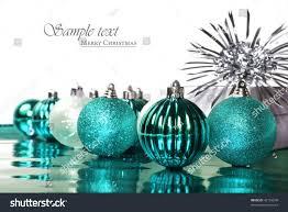 turquoise blue christmas decorations stars on stock photo 42153049