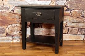rustic nightstand in black stain new arrivals back at the ranch