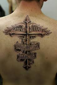 third eye cross tattoos with wings for