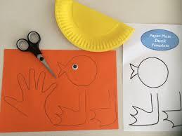 super easy paper plate duck craft mum
