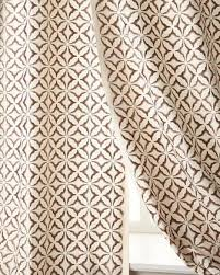 Brown Patterned Curtains Embroidered Ivory Curtains