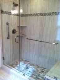 Towel Bar For Glass Shower Door Door And Panel With Through Glass Towel Bar Fredericksburg Va