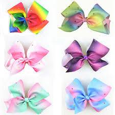 hair bows uk unbranded rainbow hair bow for ebay