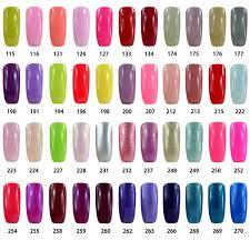 vishine brand nail varnish gloss polish 8ml bottle uv gel polish