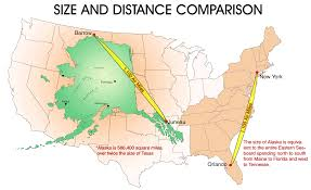 Ketchikan Alaska Map by Size And Distance Comparison Of Alaska With The Contiguous Usa
