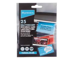 business card laminator ryman laminating pouches business cards 250 micron 60x95mm pack of