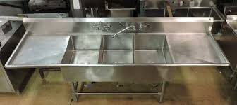 used 3 compartment stainless steel sink astonishing new u used restaurant supplies equipment chicago ta
