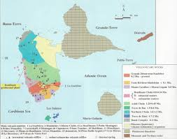 Geological Map Caribbean Volcanoes Guadeloupe Map