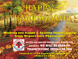 urgent care physicians in appleton is open thanksgiving day 8a 2p