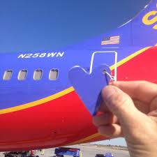 southwest flight sale former southwest airlines retired boeing 737 heart keychain