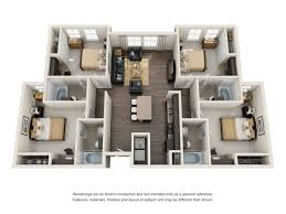 4 bedroom apartment floor plans 4 bed 4 bath apartment in college park md mazza grandmarc