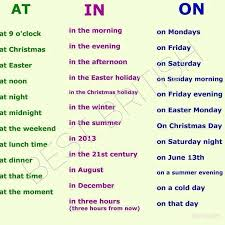 preposition of time in at on learn with us