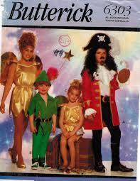 butterick halloween costumes butterick pattern 6303 costumes tinkerbell peter pan captain hook