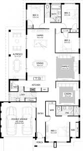 4 bedroom modern house plans flat plan design one story ranch