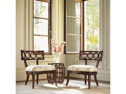 tommy bahama dining room furniture tommy bahama home royal kahala rattan with leather binding oval