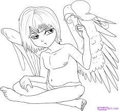 how to draw an anime angel boy