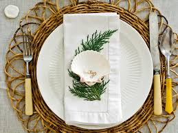 coastal chic holiday table hgtv