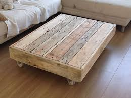 furniture home rustic wood coffee table with wheels design modern
