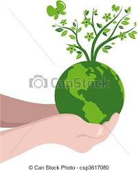 vector clipart of tree globe green globe with a tree csp3617080