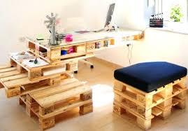 plan pour fabriquer un bureau en bois fabriquer un bureau image bureau palettes photos bureau palettes