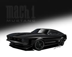 Black Mustang Mach 1 1971 Mach1 Mustang By Lky13 On Deviantart