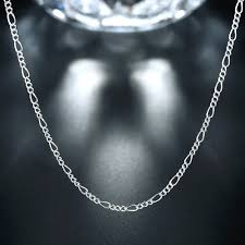 figaro chain silver necklace images 2mm geometric figaro chains necklace career 925 sterling silver jpg