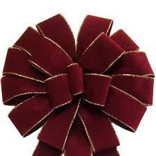burgundy velvet ribbon bows wired burgundy velvet bow 14 inch