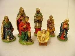 7 columbia statuary c s vintage chalkware nativity creche